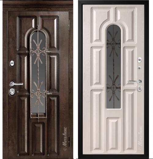 Mūsdienīgas metāla durvis ar stiklu privātmājai