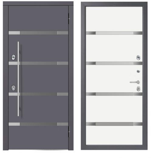 Metāla durvis M-lux ar stiklu ir stilīgas un drošas.