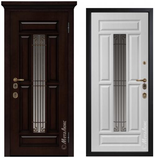 Metāla durvis mājai CM1712/13 ar stiklu