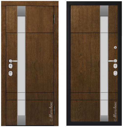 Metāla durvis mājai CM1713/9 ar stiklu