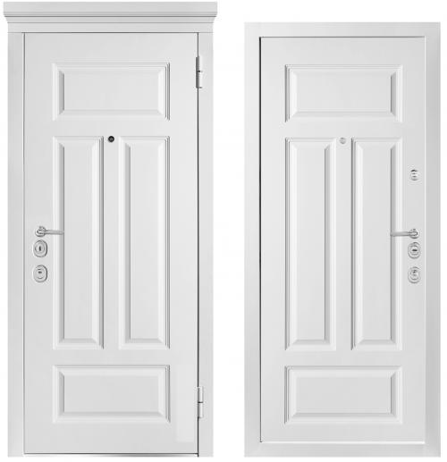 Augstas drošības klases durvis dzīvoklim un mājai ar krāsotu apdari Klasiskajā stilā