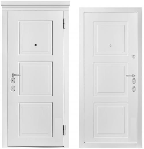 Dzelzs durvis ar klasiska dizaina mitrumizturīgu krāsotu MDF apdari