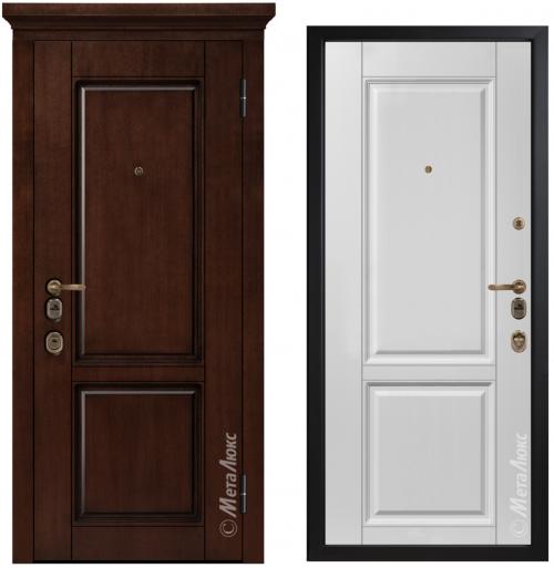 Dzīvokļu un privātmāju metāla ārdurvis M1706/23 Artwood