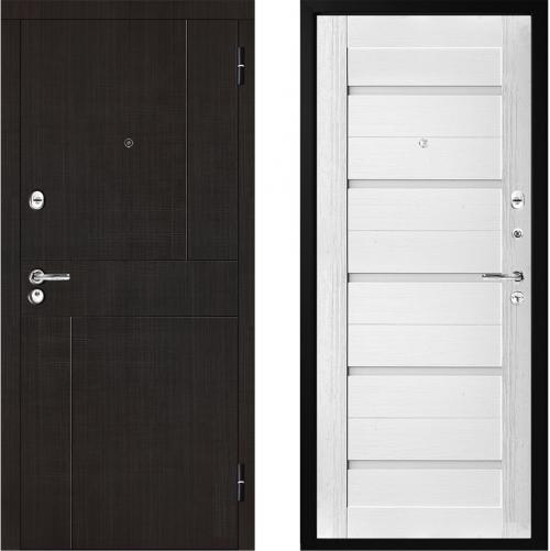 Metāla durvis dzīvoklim ar mdf apdari modelis M323