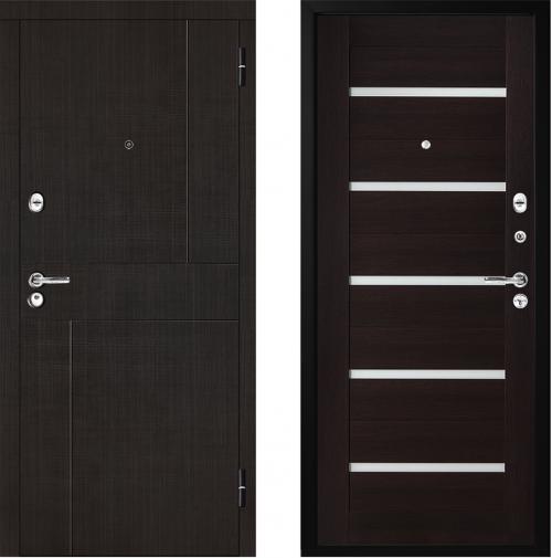 Metāla durvis dzīvoklim ar mdf apdari modelis M325